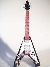 Guitare miniature flying V psychédélique Jimi Hendrix
