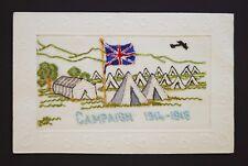 WW1 Silk Postcard KIA Thompson Scottish Borderers Aeroplane Airplane Army Camp