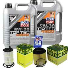 Inspection Kit Filter Liqui Moly Oil 10L 5W-30 for Audi A5 8T3