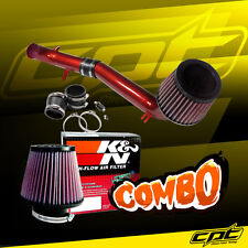For 08-15 Scion xB 2.4L 4cyl Red Cold Air Intake +  K&N Air Filter