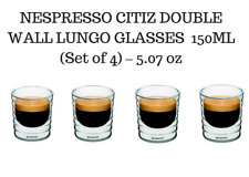 BRAND NEW NESPRESSO CITIZ DOUBLE WALL LUNGO GLASSES CAFE CUP 150ML Set of 4