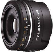 SONY single focus macro lens DT 30 mm F 2.8 macro SAM APS-C compatible black