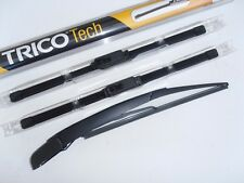 Fiat Panda 2003-12 Latest TRICO Blade Front Wiper Blades.+ Smooth Rear Arm Blade