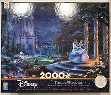 Thomas Kinkade Disney Puzzle Cinderella Dancing in Starlight 2000 Pieces
