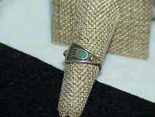 Native American Navajo Turquoise Sterling Silver Ring Size 7 2.9 Grams Bear Claw