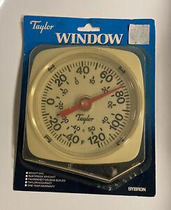 VTG Taylor Window Thermometer 5310 Bright Dial Fahrenheit Celsius Temperature