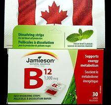 JAMIESON VITAMIN B12 1,000 MCG FAST DISSOLVING MINT STRIPS FOR ENERGY