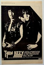 Thin Lizzy 1982 Poster Ad Hollywood renegade
