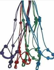 New listing 3x Hand Made Rope Halter Knotted Nylon Headcollar  Horses/Donkey/Cows