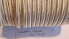 Soutache silberfarben Metallfolie 8mm 1 Meter neu (nr153)