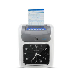 Employee Attendance Punch Time Clock Payroll Recorder LCD Display Car pro new