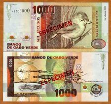 Specimen Cape Verde, Africa, 1000 (1,000) Escudos, 2002, P-65bS, Unc