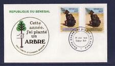 ASg/ Sénégal  enveloppe  1er jour  reboisement  arbre   1980