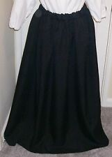 ADULTS LADIES VICTORIAN  COSTUME SKIRT BLACK size 12/18