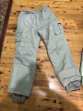 Suisse Sport Boys Size 18 Insulated Snowboard Ski Pants Khaki Winter Snow