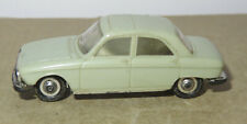 Old made in france 1966 micro norev oh 1/87 peugeot 204 #532 grey green
