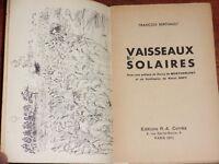 François Berthault VAISSEAUX SOLAIRES 1936 EO frontispice Raoul Dufy Montherlant