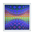 """Victor Vasarely """"Reech"""" 1975 Limited Edition Screenprint publ. Euro Art"""