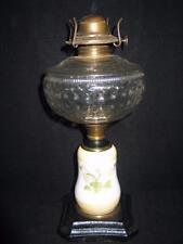 Antique P&A Co. Eagle U.S.A. - Pat. April 2, 1875 Cast Iron Base Floral Oil Lamp
