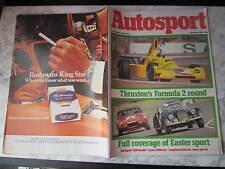April 1976, AUTOSPORT, Toyota 2000, Juan Fangio, Carroll Shelby, Jack Brabham.