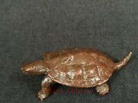 Rare Collection Old China Copper Carving Lovely Turtle Statue Pendant Decoration