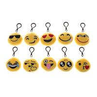 10pcs 6cm Cute Emoji Emoticon Amusing Key Chain Toy Gift Mini Bag Accessories SL