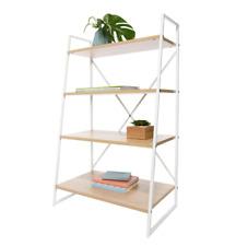 Scandinavian Ladder Bookshelf Scandi Design Book Shelf 4 Tier Bookcase Storage