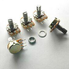 NEW 10x B10K Ohm Linear Taper Rotary Potentiometer 15mm Shaft Nuts Washers