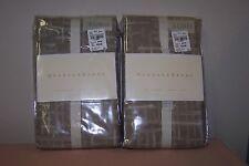 "Set of 2 New Barbara Barry Mid Century - Euro Pillow Sham 26"" x 26"" Walnut New!"