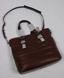 NWT COACH Men Clarkson Leather Tote Crossbody #70343 Brown