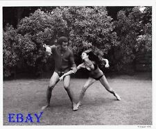 Busty leggy babe fights man VINTAGE Photo Hell Up In Harlem