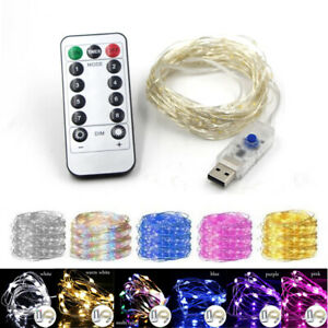 8Modes USB 5M 10M 20M String of copper wire fairy lights wedding Christmas party