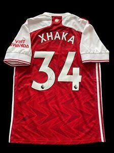 Granit Xhaka Signed 2020/2021 Arsenal Home Shirt Presentation Box