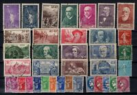 K139669/ FRANCE – YEARS 1933 - 1938 USED SEMI MODERN LOT – CV 125 $