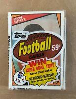 VINTAGE 1984 TOPPS NFL FOOTBALL CELLO PACK - MARINO ELWAY WARNER - ANDRE TIPPETT