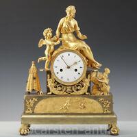 Claude Galle Paris Empire Prunk Pendule  Amor als Honigdieb & Venus 1810 Bronze