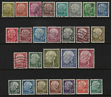 OPC 1954-7 Germany Heuss Sets of 27 Sc#702-721,755-761 Used  26469
