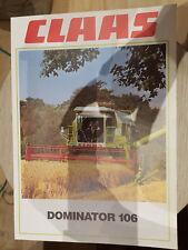 Prospectus Sales Brochure CLAAS Dominator 106 données techniques agraire Agro