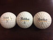 3 Vintage MacGregor Nicklaus Golden Bear Golf balls
