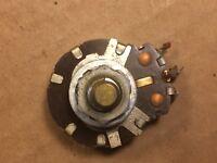 "Vintage 1954 CTS 10k ohm 1/4"" Shaft Guitar Amp Potentiometer Linear Taper tested"