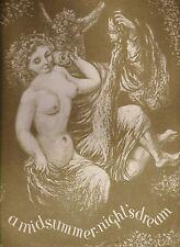 A Midsummer-Night's Dream, Shakespeare, 1946 ltd to 250cc, ill. D. Lammers