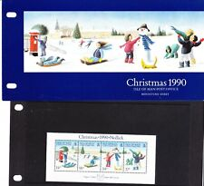 Isle of Man 1990 Christmas Miniature Sheet Presentation Pack
