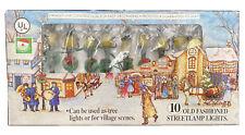 VINTAGE Kurt Adler 10 OLD FASHION Streetlamp Village Tree String Lights TESTED