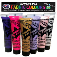 Fabric Paint Fantasy Fabric Printing Textile Paint 6 x 15ml By Artistic Den **