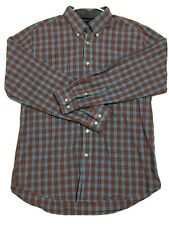 TOMMY HILFIGER Long Sleeve Button Down Plaid Shirt Blue Red White Mens Sz Large