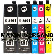 5 XL Drucker-Patronen für Epson 35 XL WorkForce Pro WF-4720 DWF WF-4740 DTWF Set