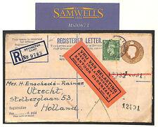 MS673 1947 GB MILITARY DORSET *Bovington Camp* Registered Etiquette Env HOLLAND