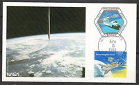 United States 1983 April 4 space Maxi Card Shuttle Challenger STS-6 spacewalking