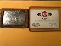 VINTAGE MLB BASEBALL SILVER LIFETIME PASS AL TODD CHICAGO CUBS PHILLIES PIRATES
