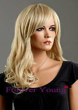 Ladies Long Blonde Wig 2 Tone Ash Platinum Blonde Fashion Wig. Forever Young UK